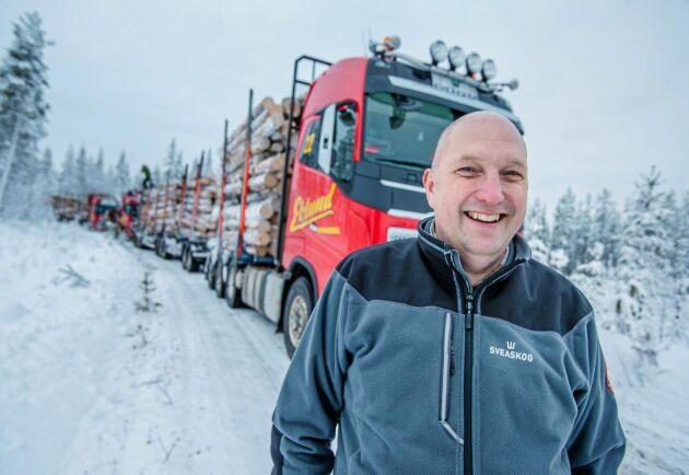Större last per fordon ökar effektiviteten samtidigt som kostnader och miljöpåverkan minskar, anser Henrik Engman.