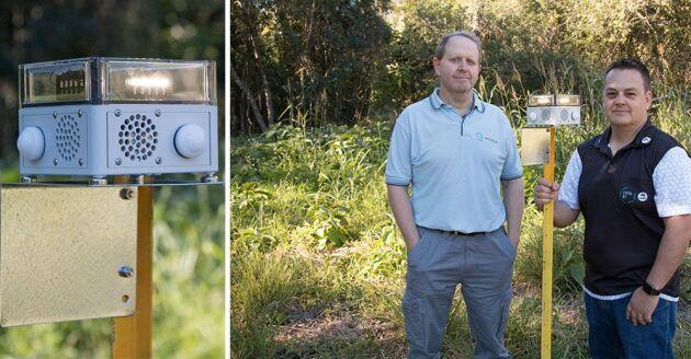 Ash Tews och Philip Valencia, forskare vid CSIRO i Australien, står bakom den datoriserade djurskrämman VPDaD.
