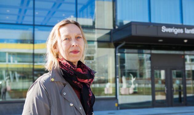 Kristina Julin, avdelningsdirektör på Planeringsavdelningen på SLU.