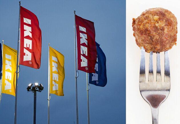 Ikeas köttbullar består av fläsk- och nötkött från fem olika länder.