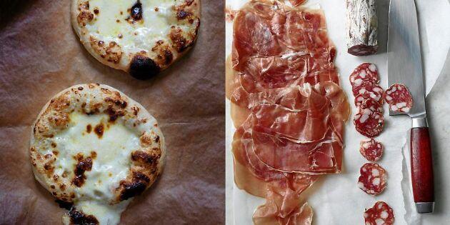 Pizza Bianca – krämigt, frasigt och underbart gott!