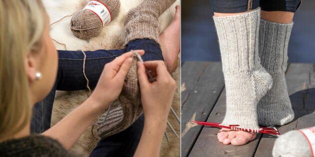 Sockskola del 1: Lär dig sticka sockor steg för steg