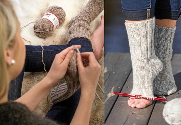Nu har du chansen att lära dig sticka sockor. Vi börjar från början med uppläggning och skaft.