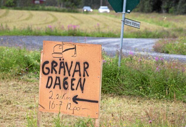 Grävardagen - sommarens höjdpunkt för både Nisse och alla grävmaskinsfantaster.