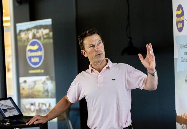 """""""Frågor om slakt och kött lockar inte väljare"""", säger Svenska köttföretagens vd Hans Agné. Därför har politikerna enligt honom inte gjort speciellt mycket för att ersätta importerat kött med svenskproducerat."""