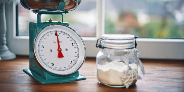 Smart måttguide när du bakar – så mycket väger en dl