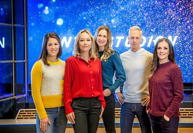 År 2018/2019 kör SVT Vinterstudion med uppfräschad studio och André Pops är tillbaka som en av programledarna.