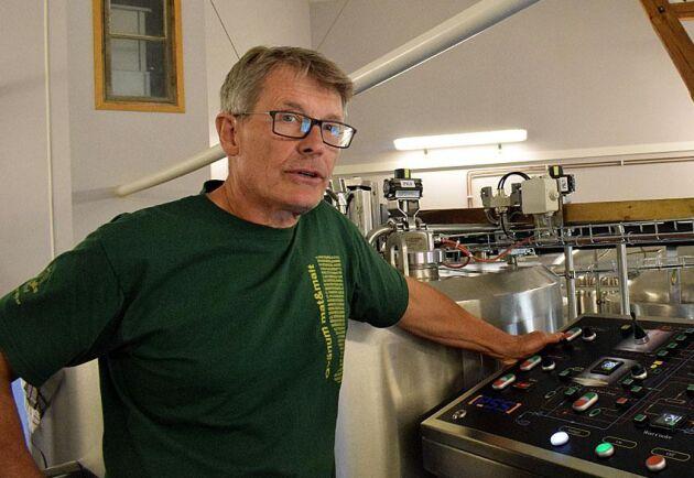 Claes Wernerson är nöjd med det nya bryggverket som utökat kapaciteten en hel del.