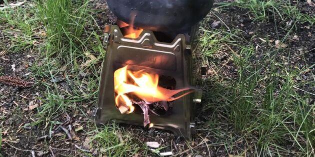 Så fungerar ett bärbart vedkök – får enkelt plats i benfickan