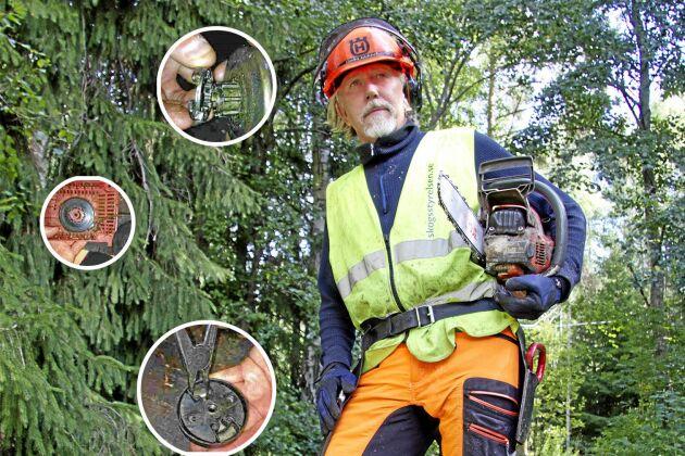Dan Månsson, instruktör på Skogsstyrelsen, vet hur man bäst tar hand om sin motorsåg. I motorsågsskolan visar han hur man gör.