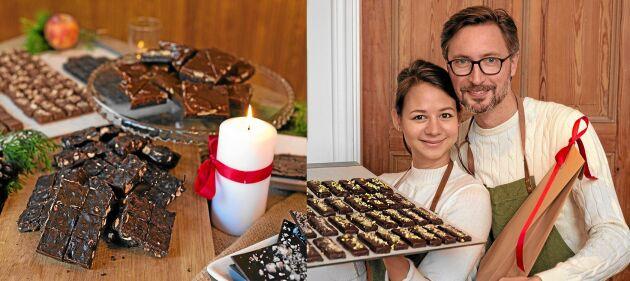 Chokladfabrikörerna Ulrika Bergenkrans och Fredrik Alverén har tagits emot bra i Skåne-Tranås. Vi företagare backar upp varandra, säger de.