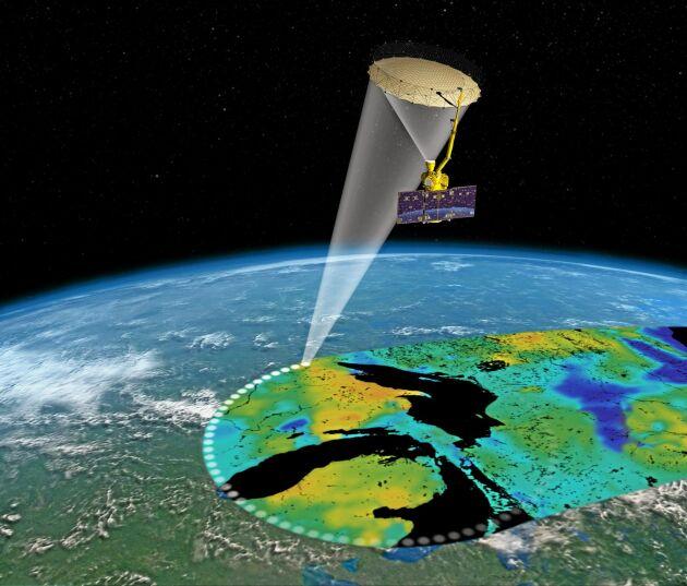 Nasas markfuktighetssatellit.