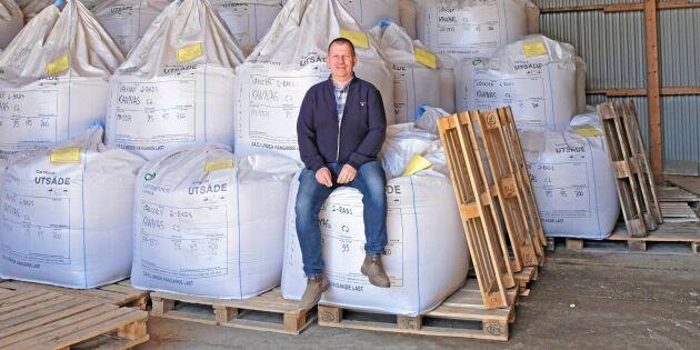 Erik Bäckström vill se spannmålen vaja i Norrland