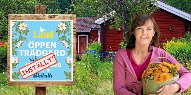 Lands Öppen Trädgård 2020 ställs in