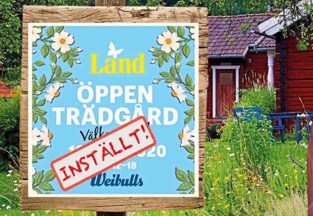 Tyvärr. Årets Öppen Trädgård den 19 juli 2020 ställs in.