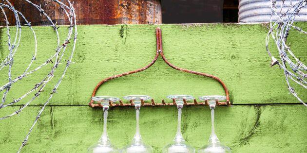 Återbruk: Krattan håller glasen på plats