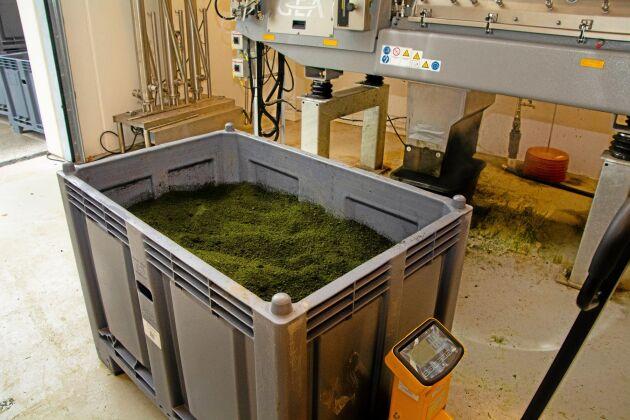 Det färdiga proteinkoncentratet kan antingen blandas i som det är eller användas till pelletstillverkning.