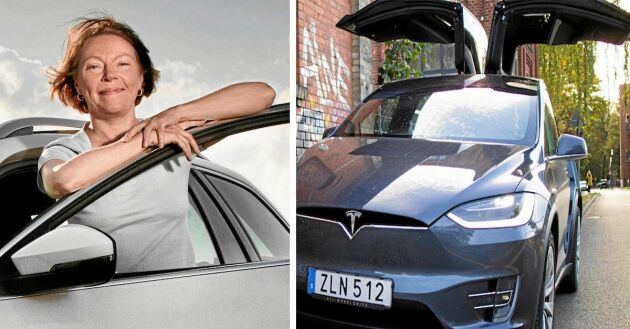 Lands Ia Wadendal testar den nya Teslan Model X 100D med falkvingedörrar och 50 mils räckvidd på batteriet.