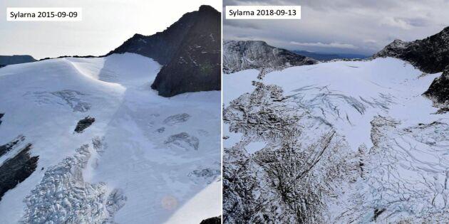 Länsstyrelsen slår larm: Stora förändringar i Sveriges glaciärer