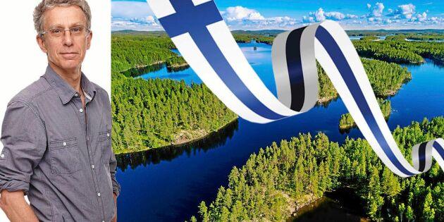 """Krönika: """"Nånstans där inne är jag blåvit – det är nåt med Finland"""""""