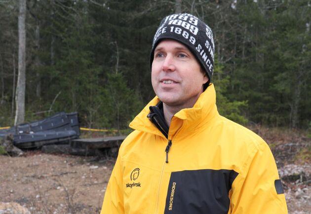 Olle Gelin, projektledare på Skogforsk.