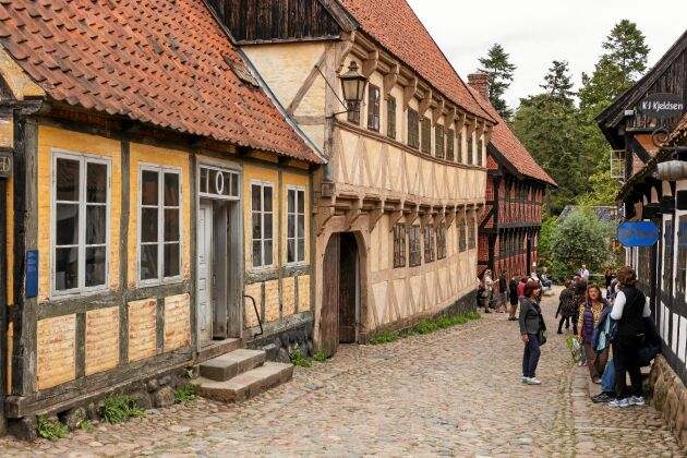 Scenerna från staden i Törnosdalen filmades i Århus i Danmark.