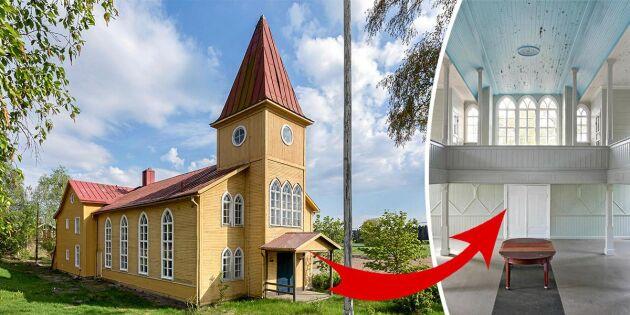 Anrik missionskyrka till salu –stor potential för inredningsfantasten!