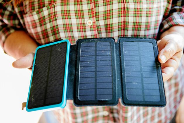 Solceller till mobilen.