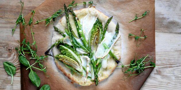 Vegetarisk tarte flambée – en busenkel fransk specialitet