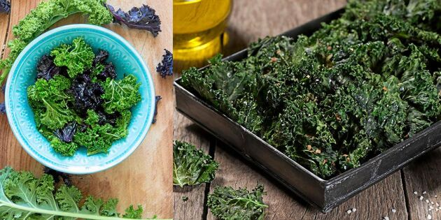 Grönkålschips –nyttigt snacks med härligt krisp
