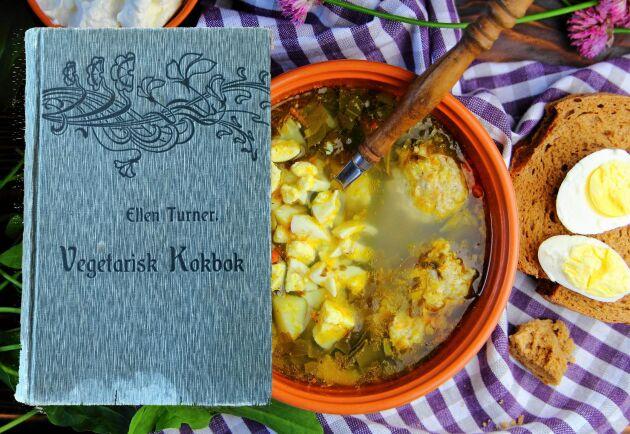 Vegetarisk mat är inget nytt påfund. Här är Sveriges första vegetariska kokbok.