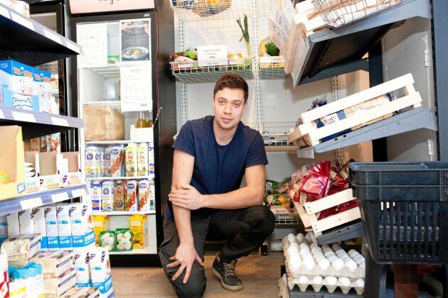 Edvin Johansson driver en obemannad affär i Ekängen utanför Linköping. Nu vill han starta ytterligare 200 butiker.