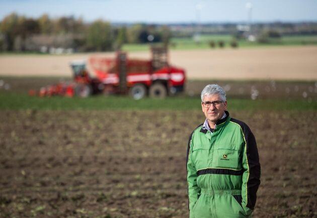 Nedgången under torkåret 2018 var ekonomiskt kännbar för Ebbe Persson, konventionell växtodlare utanför Trelleborg, under hela 2019. Men då fick han istället sin bästa skörd någonsin, vilket har bidragit starkt till återhämtningen.