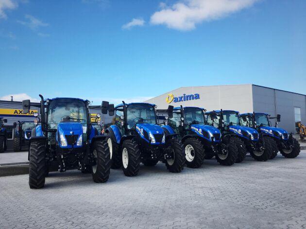 New Holland-traktorer ur T5-serien. Den stulna traktorn var en TF 510.