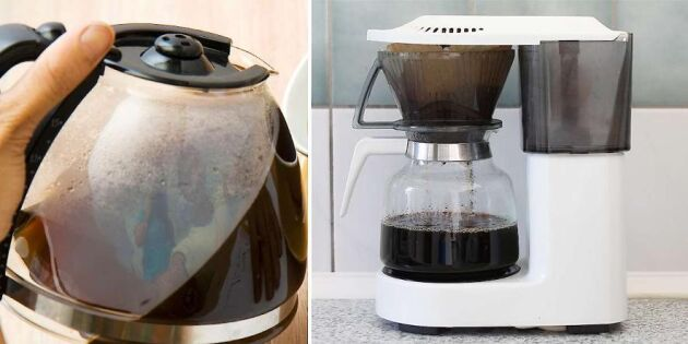 Enkelt knep för att rengöra kaffebryggaren i ett nafs