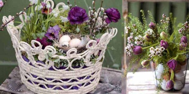 Gör vackert påskfint med lila blommor – 4 roliga idéer