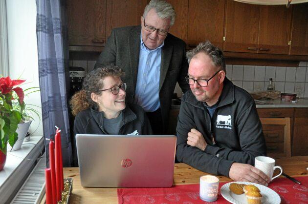 Jonas och Lotta Karlsson fick hjälp av mentorn Peter Svensson.