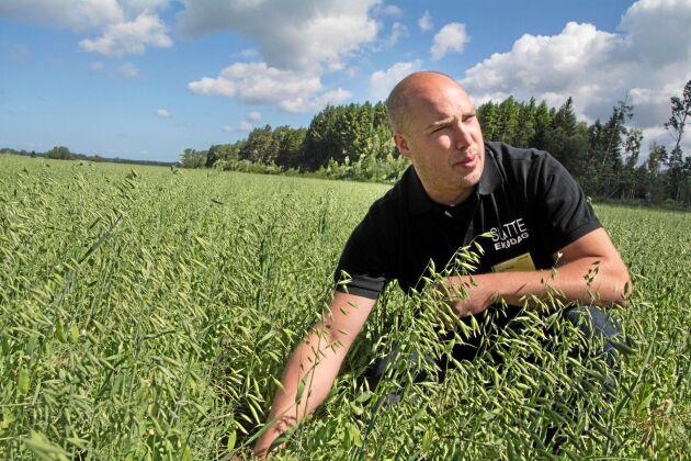 """Med hjälp av mellangrödor och näringsbalansering ska mullhalten och därmed skördarna öka hos Emil Olsson. """"När det fungerar i andra länder, varför ska det inte fungera hos oss?"""" säger han."""