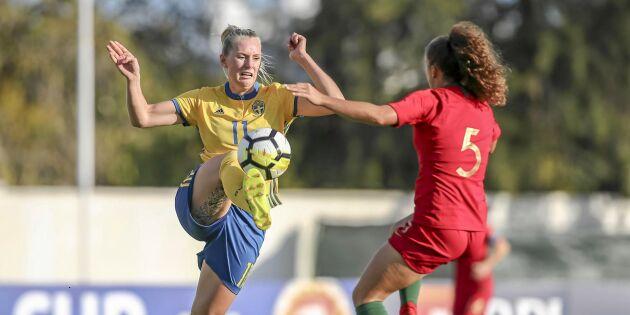 """Stina Blackstenius gör VM-debut: """"Det är ärofullt att dra på sig landslagsdressen!"""""""