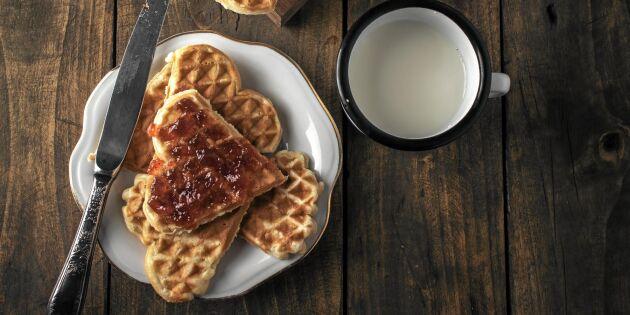 Glutenfria våfflor med mandelmjöl