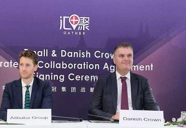 David Lloyd, Alibaba, Jais Valeur, Danish Crown och danska miljö- och livsmedelsministern Esben Lunde Larsen.