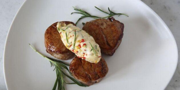 Hemlagat kryddsmör med grillsmak av purjo