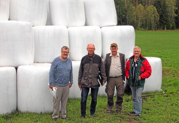 Arbetsgruppen som ska utreda olyckor med storbalar, från vänster: Torsten Ivarsson, Anders Danielson, Stefan Wistrand och Joel Persson.