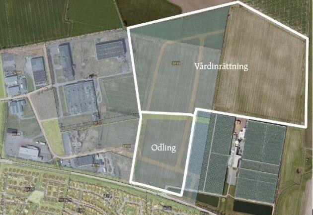 I Trelleborg planerar Kriminalvårdsstyrelsen att bygga ett nytt fängelse på 50 hektar åkermark.