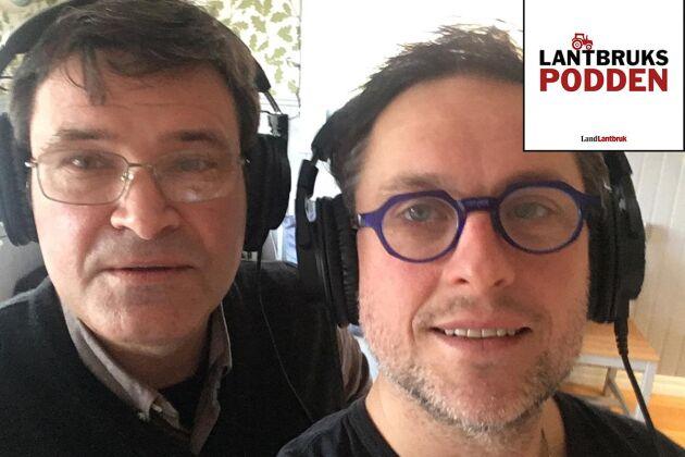 Reporter Göran Berglund intervjuar Rickard Axdorff i Lantbrukspodden.