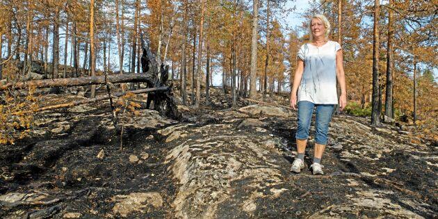 """Hennes skog blev brandhärjad: """"Stort ansvar ta över brandvakten"""""""