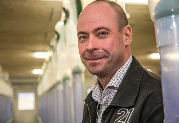 Mattias Espert, vice ordförande i Sveriges Grisföretagare.