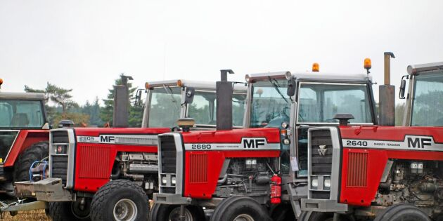 Massor med maffiga MF-traktorer