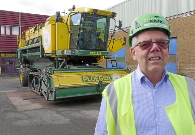 Bengt Persson VD Foodhills AB ser ärtodlingen som en viktig del i verksamheten - men målet är att locka många nya företag till området.