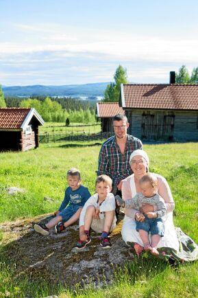 Olle, Linda och de tre sönerna Milo, Bo och Sid har just flyttat upp till sin fäbod för sommaren.